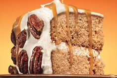 Find the recipe for Maple-Gingerbread Layer Cake with Salted Maple-Caramel Sauce and other pecan recipes at Epicurious.com
