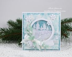 Christmas card with snow globe by Monia - Cards and Paper Crafts at Splitcoaststampers