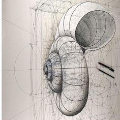 """951 curtidas, 15 comentários - Rafael Araujo (@rafaelaraujo2222) no Instagram: """"Geometry  #art #artist #painting #photo #drawing #math #geometry #nature  #igers #photooftheday…"""" Geometric Drawing, Mandala Drawing, Abstract Drawings, Geometric Shapes, Art Drawings, Abstract Art, Geometry Art, Sacred Geometry, Geometry Architecture"""