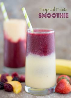 This tropical fruit smoothie is made with delicious fruits! Best summer drink and a fun way to feel like you are sitting on the sands of the Caribbean. #Ad @walmart  @ToraniFlavor #mytoranisummer