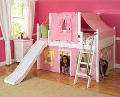lit d'enfant : cabane pour fille