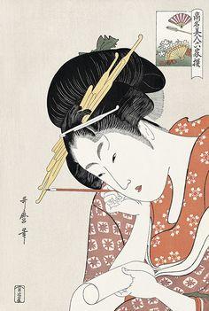 扇屋花扇 喜多川歌麿 高名美人六家撰 浮世絵のアダチ版画オンラインストア
