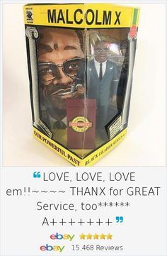 "In the 1990's, Olmec Company recognized the lack of black action figures and toys that respected the African American journey. They developed a hard-to-find series called ""Our Powerful Past"" and offered this Malcolm X Action Figure Doll , 2nd issue in the Black Leader Series. Wonderful collectible, history on the back card, podium and microphone."