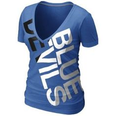 MUST HAVE!!!!  Nike College Deep V Blended T-Shirt - Women's - Duke Blue Devils - Royal