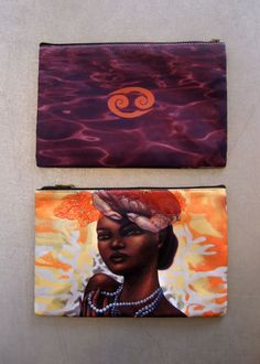 Great gifts! Zodiac makeup bags/clutches.