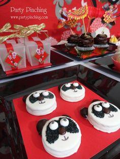 Chinese New Year chocolate covered Oreo pandas