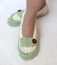 Womens Slipper Crochet PATTERN Modern Loafer by LisaCorinneCrochet