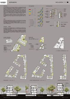 The Adaptable City 2 Architecture Student Portfolio, Social Housing Architecture, Residential Architecture, Architecture Design, Masterplan Architecture, Planer Layout, Modern Small House Design, Urban Analysis, Presentation Layout