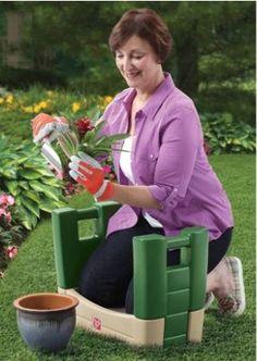 Garden Kneeler Seat - Durable Plastic Gardening Stool with Kneeling Cushion Pad, Beige/Green Lawn And Garden, Garden Tools, Home And Garden, Garden Tool Organization, Garden Cushions, Classic Garden, Gardening Gloves, Garden Accessories, Pretend Play