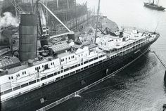 RMS Lusitania fitting out