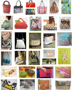 purses, handbags and zipper bags