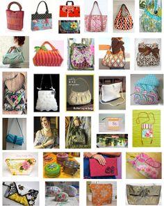 Free pattern day: purses, handbags and zipper bags