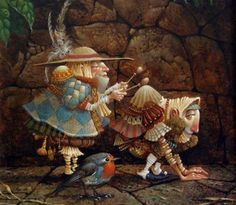 """""""Playing a Hunch"""" by James Christensen"""
