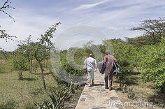 Inside the Safari camp in Kenya .Africa.