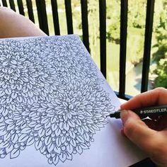 Vacation doodle! #doodle #pattern #mönster #zendoodle #zendrawing #drawing #teckning #telefonkonst #inkdrawing #kludder