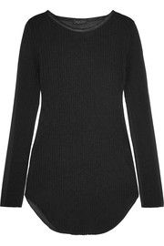 Rag & boneMarisol silk-trimmed ribbed-knit and voile top