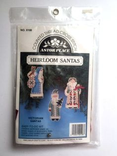 Victorian Christmas Ornaments Cross Stitch Kit Heirloom Santa Astor Place X108  #AstorPlace #Santa
