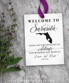 Any State Welcome Bag Tags // Printable Custom by RevintagedArt