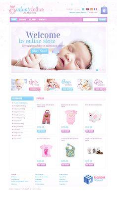Infant Clothes PrestaShop Themes by Hermes