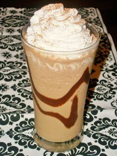 Nutella Blended Coffee Drink. I think subbing the ice cubes with the frozen coffee cubes I have would be a good idea.