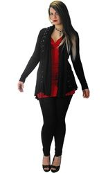 Home > Ladies Clothing > Coats & Jackets > Necessary Evil Circe Long Cardigan with Lace Up Detail Fashion Books, Love Fashion, Kinds Of Clothes, Clothes For Women, We Wear, How To Wear, Gothic Outfits, Long Cardigan, Alternative Fashion
