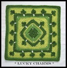 Lucky Charms crochet pattern. Free.  Irish is GOOD! ;)