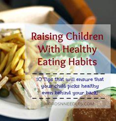 healthy eating habits for children wordsnneedles