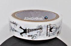 1o metros washi tape paris rollo cinta adhesiva plastico 1,5cm ancho