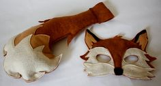 Xander Fox Mask and Tail Pretend Play Costume by HuntingFaeries, $38.00
