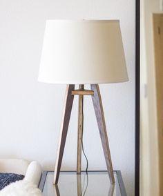 Mid-Century Modern Tripod Table Lamp - Walnut by objectorienteddesign on Etsy https://www.etsy.com/listing/483009843/mid-century-modern-tripod-table-lamp
