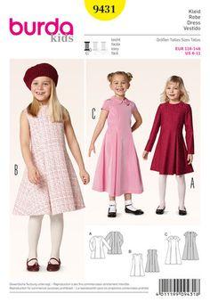 b47b4072fc Burda Style Pattern 9431 Children Burda Sewing Patterns