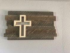 Rustic Walls, Rustic Wall Decor, Barn Wood Mirror, Diy Toddler Bed, Wood File, Cross Flag, Cross Wall Decor, Rustic Cross, Reclaimed Wood Art