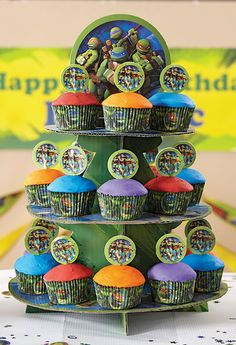 TMNT Cupcakes and Cupcake Stand @partycity