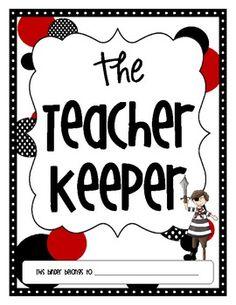 The Teacher Keeper {Pirate, Red, & Black Organizational Teacher Binder}