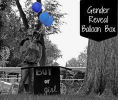 DIY Gender Reveal Balloon Box! Fun and a special way to get the family involved.