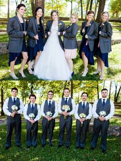 This would be funny. A little more difficult since I have a guy on the bride's side...but hmmm