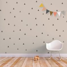 Triangle Wall Decal Little Peaks | Etsy wannahaves | more inspiration on www.liveloudgirl.blogspot.com