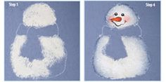 How to paint a cute snowman.
