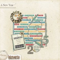 kimeric kreations: SNOW! and...an awesome A New Year cluster!