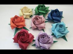 Instruções Origami, Origami And Quilling, Origami Videos, Origami And Kirigami, Origami Rose, Origami Stars, Paper Flower Tutorial, Origami Tutorial, Diy Crafts For Gifts
