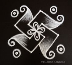 Easy And Simple Rangoli Design Very Simple Mehndi Designs, Simple Rangoli Border Designs, Rangoli Simple, Indian Rangoli Designs, Rangoli Designs Latest, Rangoli Designs Flower, Rangoli Patterns, Free Hand Rangoli Design, Small Rangoli Design