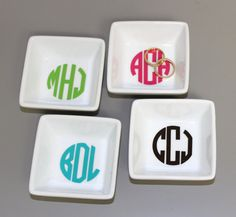 Hey, I found this really awesome Etsy listing at https://www.etsy.com/listing/206915448/monogrammed-ring-dish-monogram-jewelry