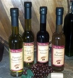 Yummy olive oils and balsamics.