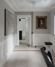 Best Wainscoting Ideas To Make Your Dining Room Look Beautiful Wainscoting The Architectural Detail That Makes A Room Apartment intended for [keyword Chair Rail Molding, Wall Molding, Farmhouse Dining Chairs, Dining Rooms, Parisian Apartment, Beauty Room, Bedroom Wall, Master Bedroom, White Walls