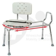 The Folding Universal Sliding Bath Transfer Bench with Safety Seat ...
