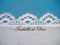 Stunning photo album of tea cloth crochet lace edgings by Daia Corassa. Crochet Boarders, Crochet Edging Patterns, Crochet Lace Edging, Crochet Motifs, Thread Crochet, Crochet Trim, Love Crochet, Filet Crochet, Crochet Designs