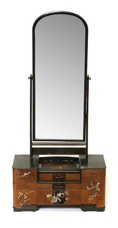 An Art Deco style dressing mirror