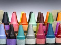 No sealing wax on hand, no problem! A crayon in a glue gun makes a beautiful, colorful wax seal for your envelope or letter!  // Ehow.com- #WaxSeal #Crayons
