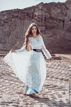 5f7cb15bc10 Wedding dress in Boho style – shop online on Livemaster with shipping Boho  Style