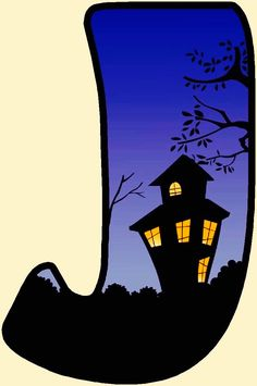 """""""J"""" is for Judy.... who absolutely, positively Loves Halloween !!!!!"""